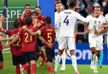 España y Francia, dos selecciones europeas poderosas medirán fuerza este domingo.