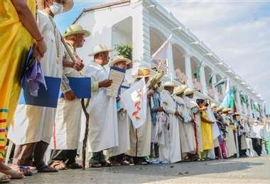 Marcha indígena /Foto: Antonio Terceros