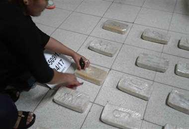 Cocaína decomisada en Bolivia