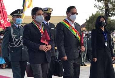Autoridades en Oruro I ABI.