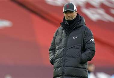 Jurgen Klopp, entrenador alemán del Liverpool inglés. Foto: AFP