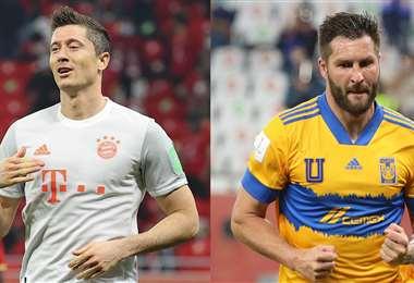 Lewandowski y Gignac fueron la figura de sus equipos. Foto: AFP
