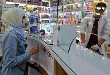 un local de distribución de vacunas contra el covid-19