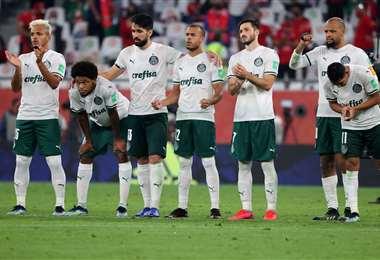 Palmeiras no pudo este jueves ante el Al-Ahly egipcio. Foto: AFP