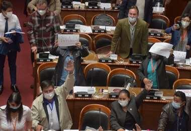 En medio de gritos aprobaron el decreto de indulto y amnistía (Foto:APG Noticias)