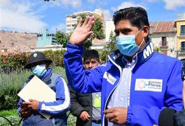 El candidato del MAS en La Paz I APG Noticias.