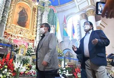 Misa en honor a la ¨Virgen del Socavón¨. Foto: Emilio Huáscar