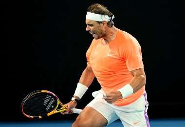 Rafael Nadal pasó a octavos de final del Abierto de Australia. Foto: AFP