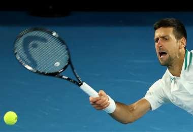 Novak Djokovic ganó este domingo pasó a cuartos de final. Foto: AFP