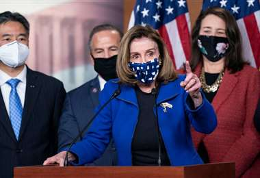 Nancy Pelosi, en rueda de prensa/Foto: AFP