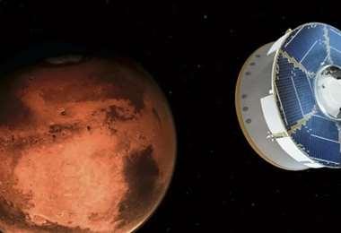 La sonda Esperanza y su primera imagen. Foto. Internet