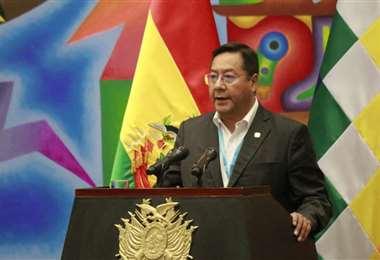 Luis Arce, presidente del Estado boliviano. Foto. Internet