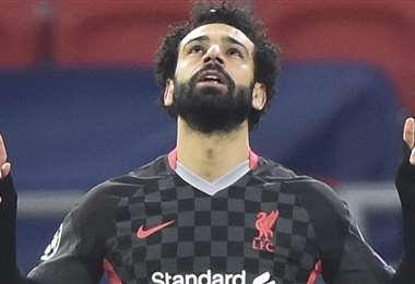 Mohamed Salah marcó uno de los goles. Foto: AFP