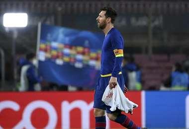 Así terminó Messi tras la goleada del PSG al Barcelona. Foto: AFP