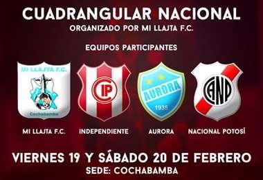 Mi  Llajta F.C de Tiquipaya será el anfitrión. Foto: Club Independiente