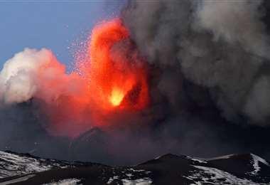 Etna es el volcán activo más alto de Europa. Foto AFP