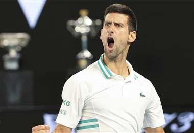 Djokovic celebrando su título. Foto: AFP