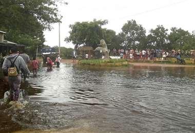 Así luce Puerto Ballivián, una de las zonas más afectadas. Foto. Alcaldía de Trinidad