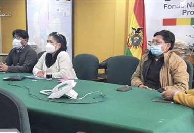 La dir. General Ejecutiva del FPS y los gerentes departamentales. Foto: Facebook FPS