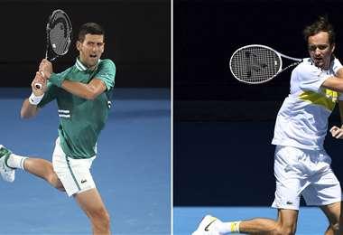 Djokovic y Medvedev se verán las caras en la final. Foto: AFP