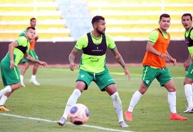 La Verde durante un práctica en 2020. Foto: Archivo / Prensa FBF