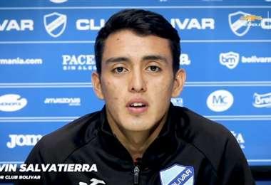 Salvatierra se entreno este lunes con su nuevo club. Foto: Club Bolívar