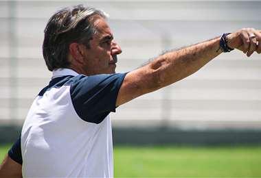 'Natxo' González, DT de Bolívar. Foto: Club Bolívar
