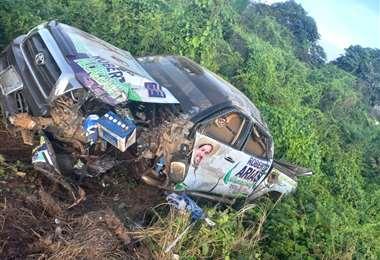 Candidato del MAS sufre accidente de tránsito