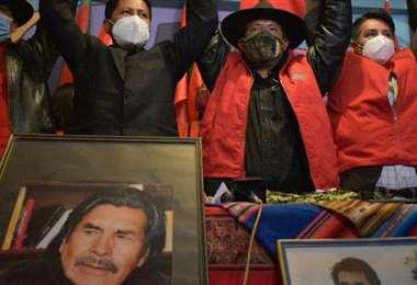 Santos Quispe el día de su proclamación en El Alto (Foto: APG Noticias)