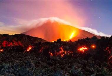 Volcan de pacaya en Guatemala
