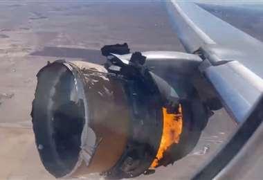 Imágenes sacadas del video de un pasajero del avión