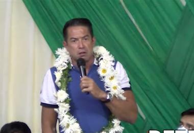 El aspirante por el MAS cuestionó la campaña de su partido/Captura de Pantalla