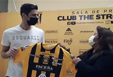 Mateos fue presentado el 5 de este mes en The Strongest. Foto: Club The Strongest