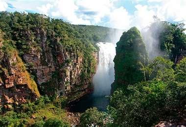 El El área protegida está en el municipio San Ignacio de Velasco