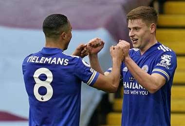 Barnes celebrando el segundo gol. Foto: AFP