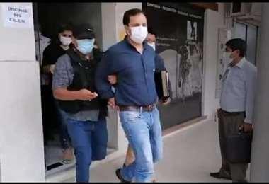 Mauricio Tejada cuando fue aprehendido