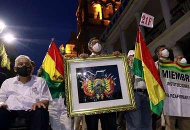 Cívicos recordaron el 21F/Foto: Ricardo Montero