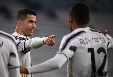 La celebración de Cristiano Ronaldo. Foto: AFP