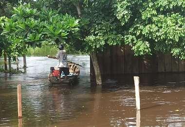 La inundación afecta a los municipios de Loreto, San Ignacio de Moxos y Trinidad