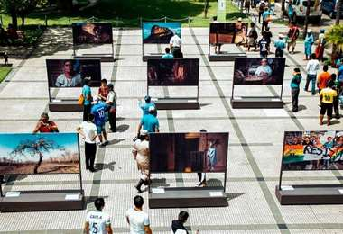 Exposición al aire libre de Manzana 1