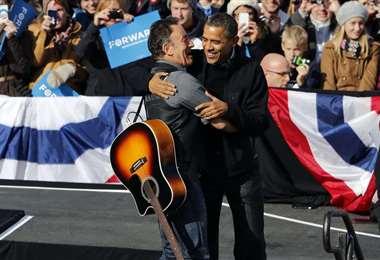 Obama y Springsteen se conocieron en 2008, como recuerdan en las grabaciones