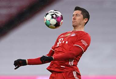 Robert Lewandowski, atacante del Bayern de Múnich. Foto: AFP