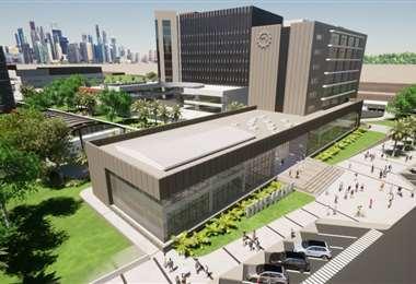 El nuevo campus está ubicado sobre la avenida Banzer, séptimo anillo. Foto: Univalle