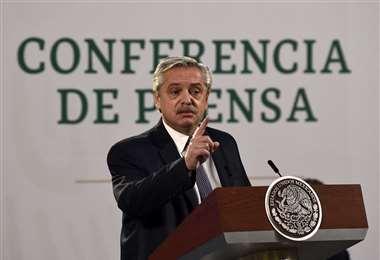 Fernández se refirió al tema desde México. Foto AFP
