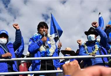 Morales haciendo campaña en El Alto I APG Noticias.