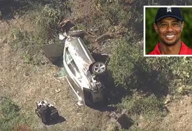 El grave accidente de Tiger Woods ocurrió este martes. Foto: internet
