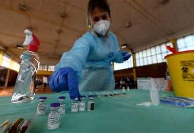 Vacuna contra el coronavirus. Foto AFP