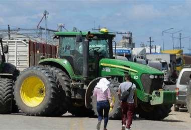 Los cultivadores de granos del chaco amenazan con bloqueo de ruta /Foto: APG Noticias