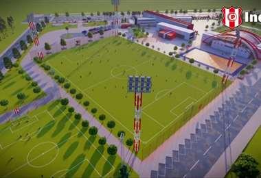 El club chuquisaqueño sueña a lo grande. Foto: Club Independiente Petrolero
