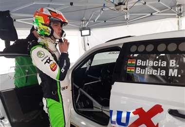 Marco Bulacia fue cuarto en el rally de Montecarlo. Foto: Marlene Peña